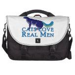 Hombres reales del amor de los gatos bolsas de ordenador