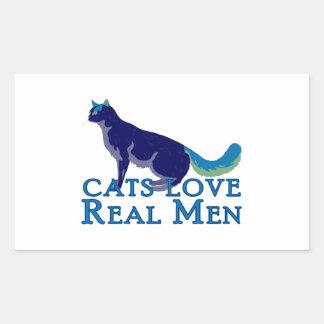 Hombres reales del amor de los gatos rectangular altavoces