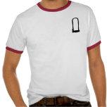 Hombres rojos del campanero de la U-Cerradura Camiseta