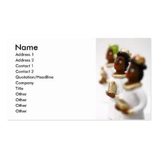 Hombres sabios africanos tarjetas de visita