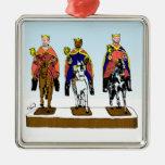 Hombres sabios de Tres Reyes Magos/tres Adorno Navideño Cuadrado De Metal