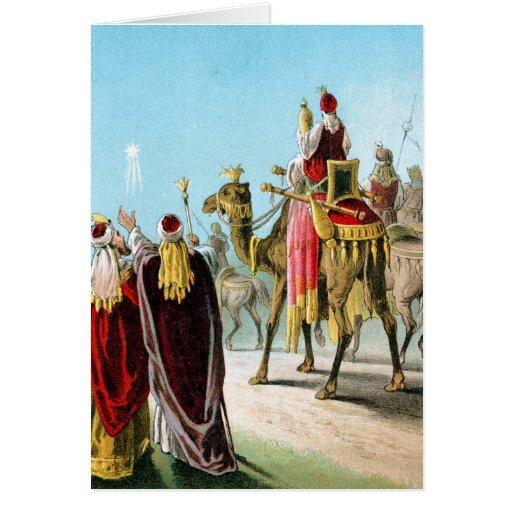 Hombres sabios del este o tres reyes Card Tarjeta De Felicitación