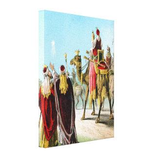 Hombres sabios del este o tres reyes lona estirada galerías