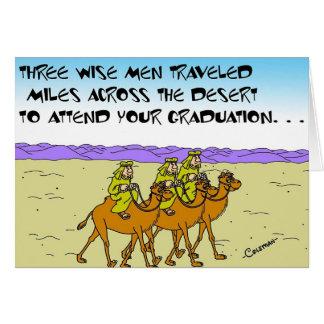 Hombres sabios en la graduación tarjeta de felicitación