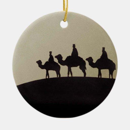 Hombres sabios ornamento para arbol de navidad
