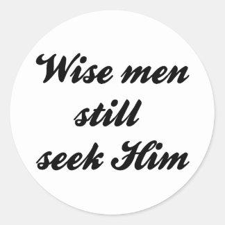 Hombres sabios pegatina