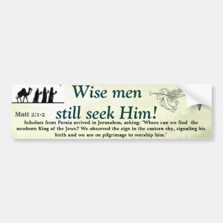 Hombres sabios pegatina para auto