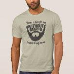Hombres sin las barbas camiseta