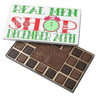 ¡Hombres tienda 24 de diciembre real! Caja De Bombones Variados Con 45 Piezas