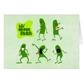 Hombres verdes de Lil Tarjeta Pequeña