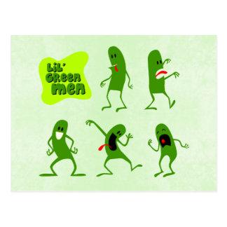 Hombres verdes de Lil Tarjeta Postal