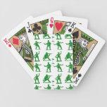 Hombres verdes del ejército cartas de juego