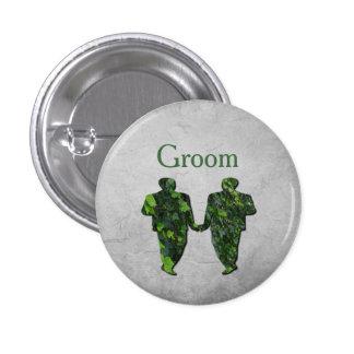 Hombres verdes hiedra y Pin gay de Handfasting del Pin Redondo 2,5 Cm
