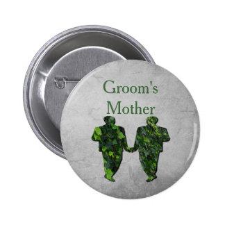 Hombres verdes hiedra y Pin gay de la madre del Pin Redondo 5 Cm