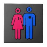 Hombres y mujeres azulejos