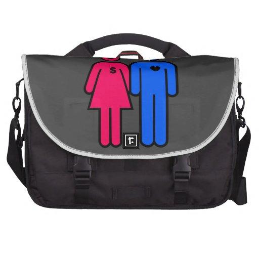 Hombres y mujeres bolsas para portátil