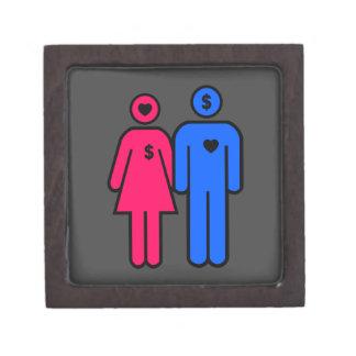 Hombres y mujeres cajas de joyas de calidad
