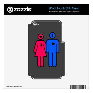 Hombres y mujeres calcomanía para iPod touch 4G