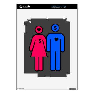 Hombres y mujeres calcomanías para el iPad 2