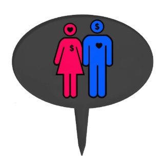 Hombres y mujeres decoraciones de tartas