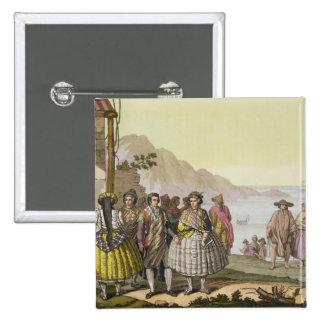Hombres y mujeres en el traje elaborado, Chile, de Pin Cuadrado