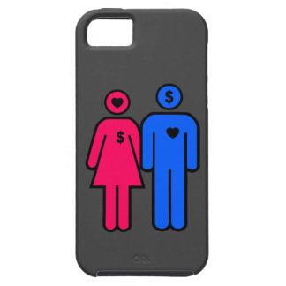 Hombres y mujeres funda para iPhone 5 tough