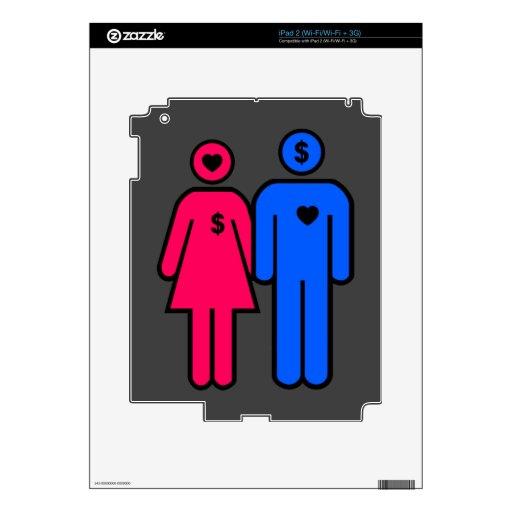 Hombres y mujeres iPad 2 skins