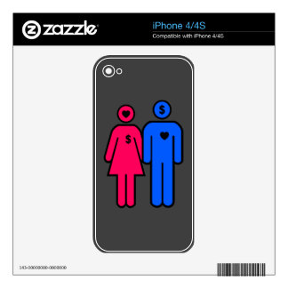 Hombres y mujeres iPhone 4S skin