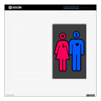 Hombres y mujeres kindle fire pegatina skin