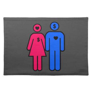 Hombres y mujeres manteles individuales