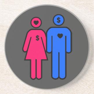 Hombres y mujeres posavasos diseño