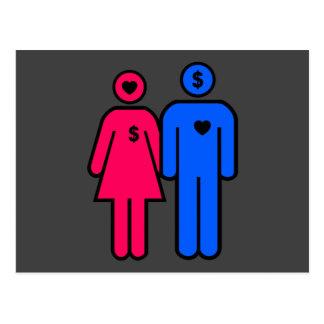 Hombres y mujeres postal