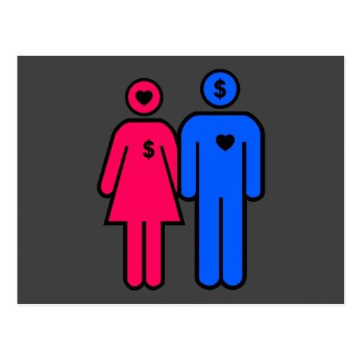 Hombres y mujeres postales