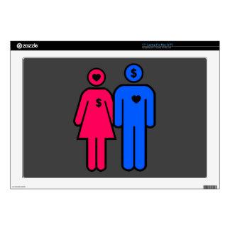 Hombres y mujeres skins para portátil