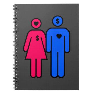Hombres y mujeres spiral notebook