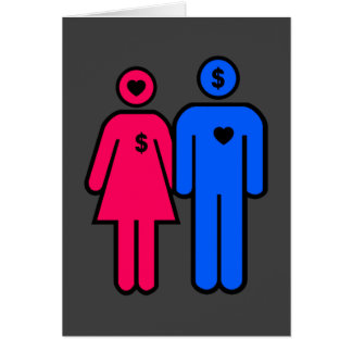 Hombres y mujeres tarjeta de felicitación