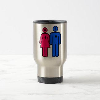 Hombres y mujeres taza de viaje de acero inoxidable