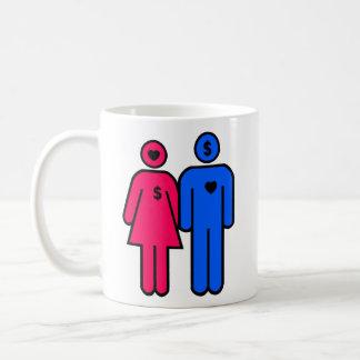 Hombres y mujeres taza básica blanca
