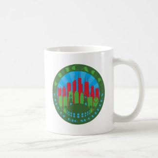 Hombros grandes de Chicago primarios Taza De Café