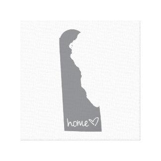 Home <3 Delaware Canvas Print