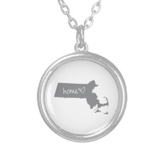 Home <3 Massachusetts Silver Plated Necklace