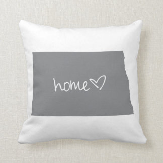 Home <3 North Dakota Throw Pillow