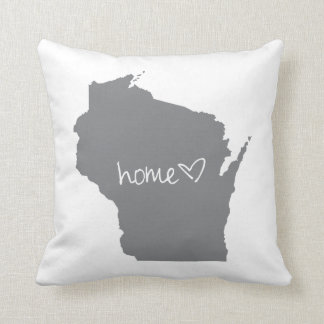 Home <3 Wisconsin Throw Pillow