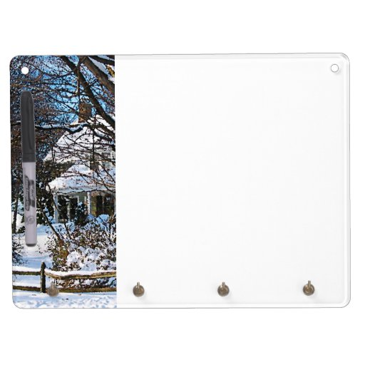 Home After the Snowstorm Dry-Erase Whiteboards