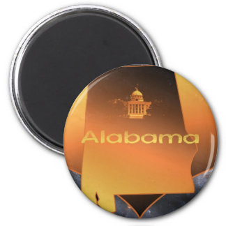 Home Alabama 2 Inch Round Magnet