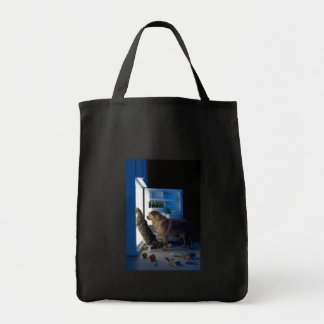 Home Alone Dog & Cat Canvas Tote Grocery Tote Bag