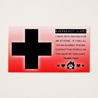 home alone pets business card