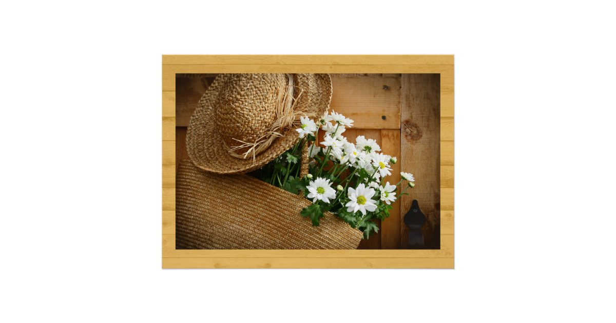 Home And Business Art Decor Straw Hat Series Poster Zazzle