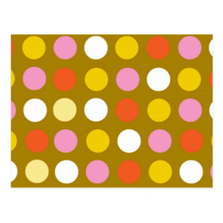 Home and business, bright color polka dots. post cards