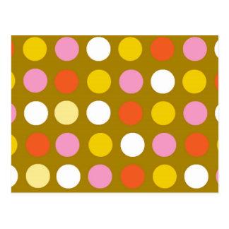 Bright Polka Dots Postcards | Zazzle